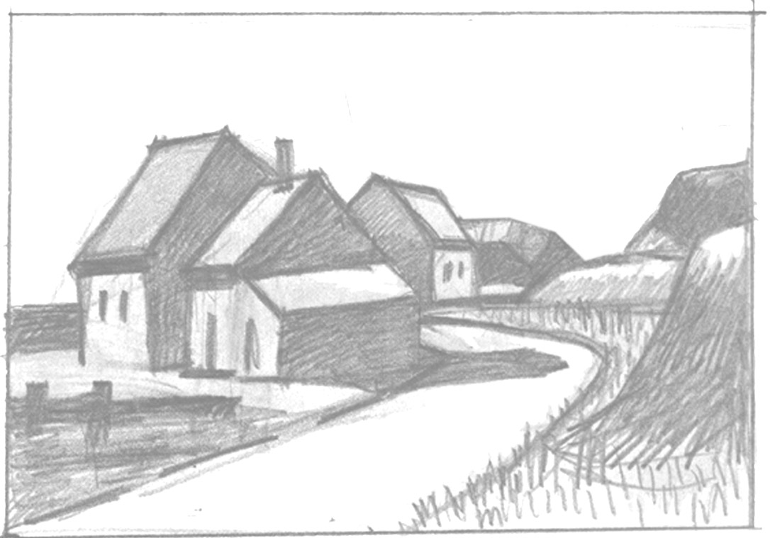 Pencil Sketches For Beginners Of Nature Of Sceneries Landscapes Of    Simple Pencil Sketches For Beginners