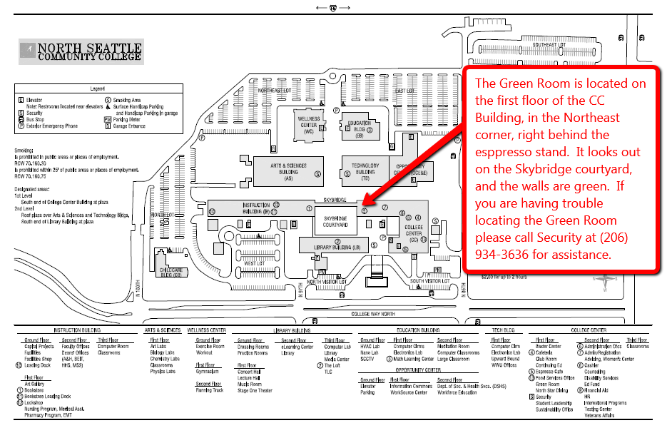 Meridian Community College Campus Map.Nscc Green Room Rekindle School Experimental College
