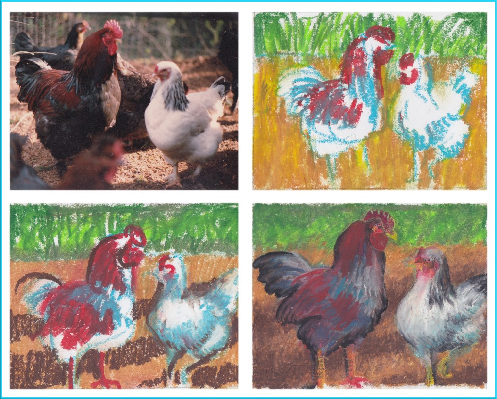 oil pastel demo chickins22